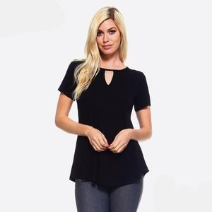 Must Have Basic Black Top with keyhole